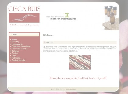 website Cisca Buis opacity